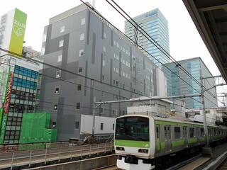 建築中の「JR東日本ホテルメッツ秋葉原」(2019/5)