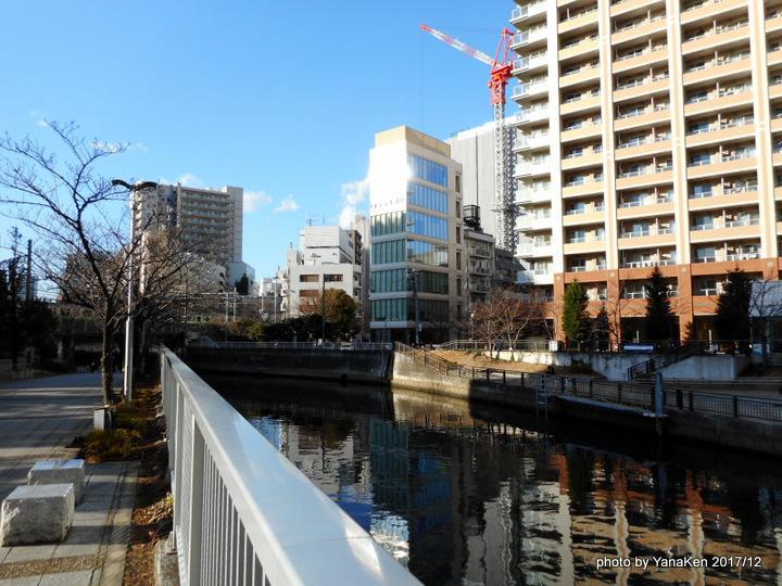 三井ガーデンホテル五反田近隣の目黒川